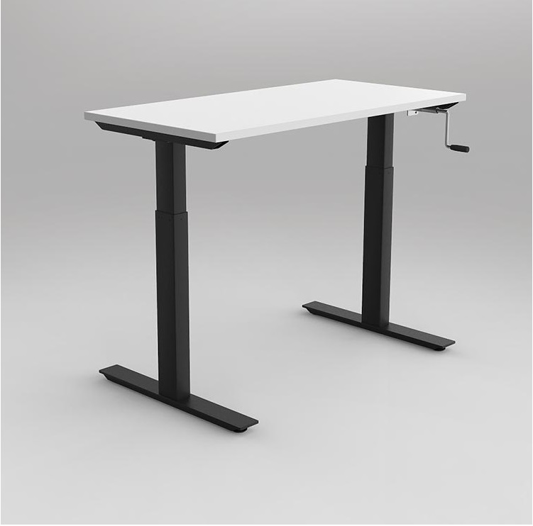 Agile Wind Up Height Adjustable Desk Seated