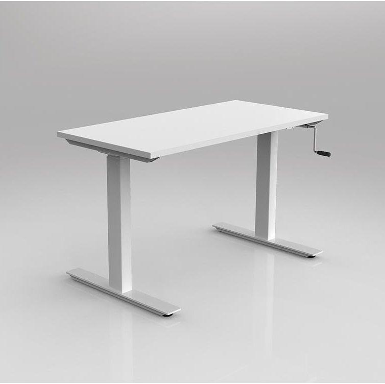 Agile Wind Up Height Adjustable Desk Seated