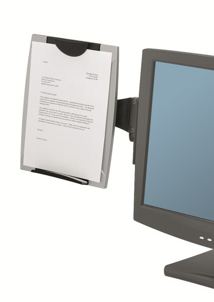 Fellowes Office Suites Monitor Mount Document Holder Seated