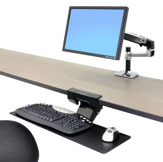 Ergotron Neo Flex Underdesk Keyboard Arm Seated