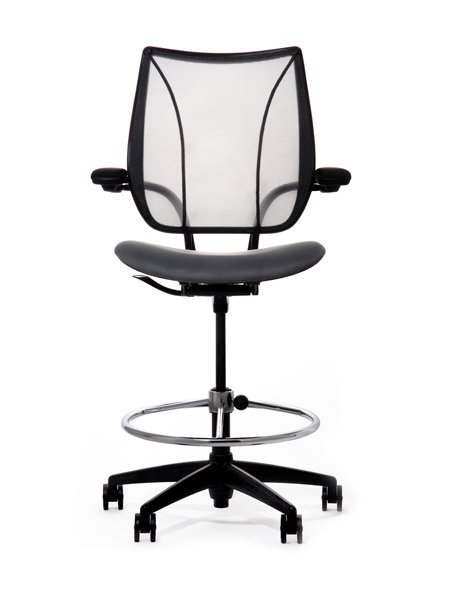Humanscale Liberty Mesh Drafting Chair Seated