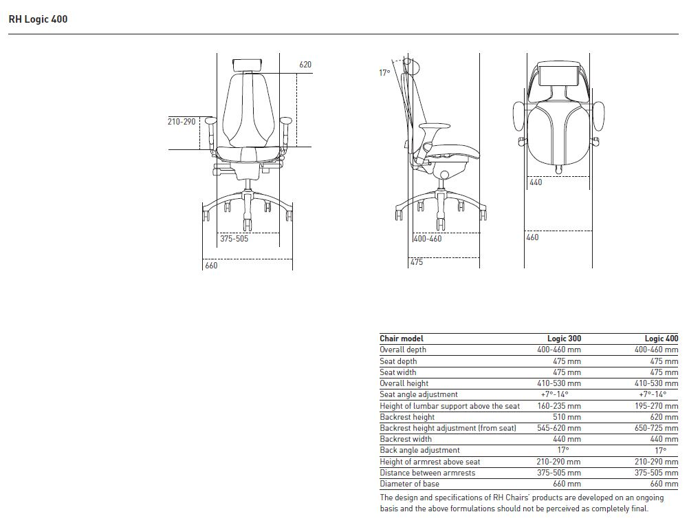 rh logic 400 chair models