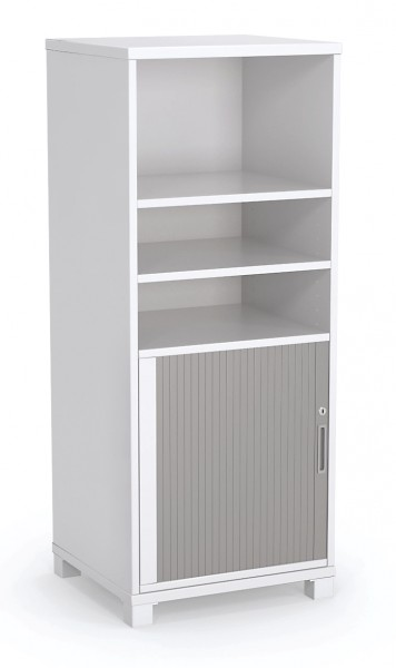 Tower Storage Bookcase with Tambour Door