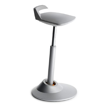 Aeris Muvman Titan Grey Sit Stand Perching Stool