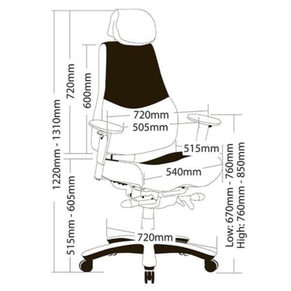 Ranger Heavy Duty Chair Dimensions