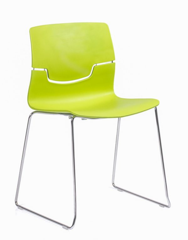 slot-visitor-chair-sled-green