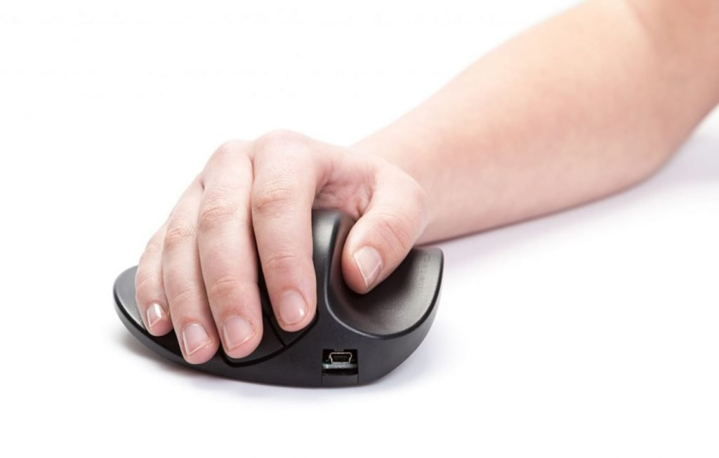 Handshoe Wireless Mouse Seated