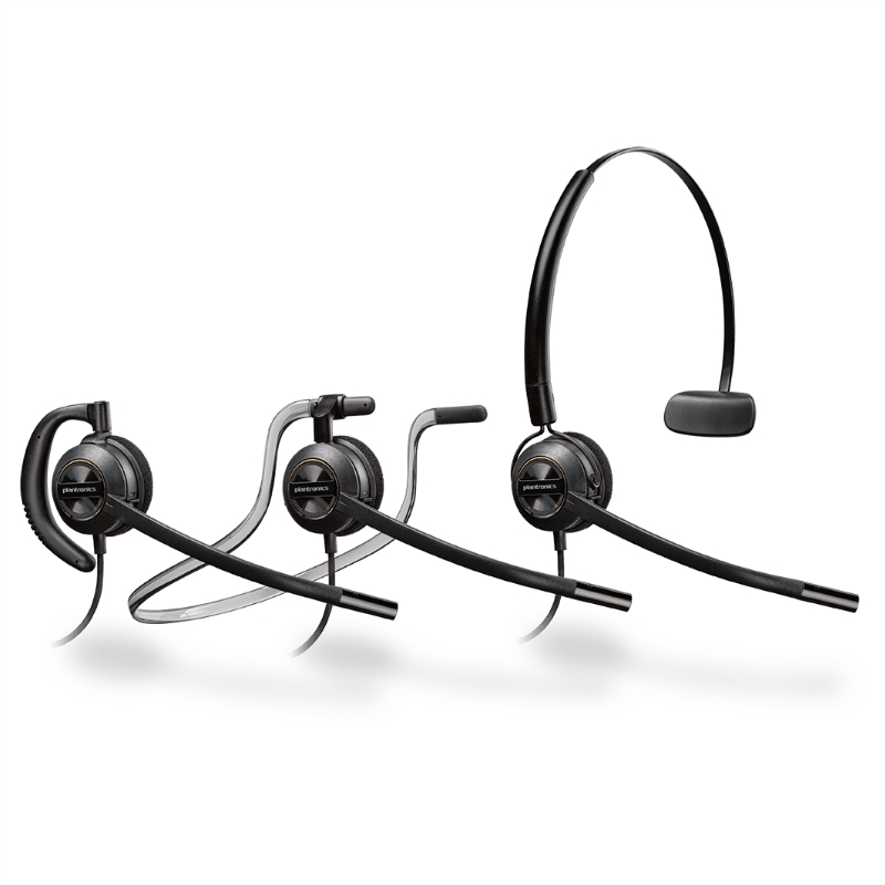 Plantronics Hw540 Wired Headset Seated