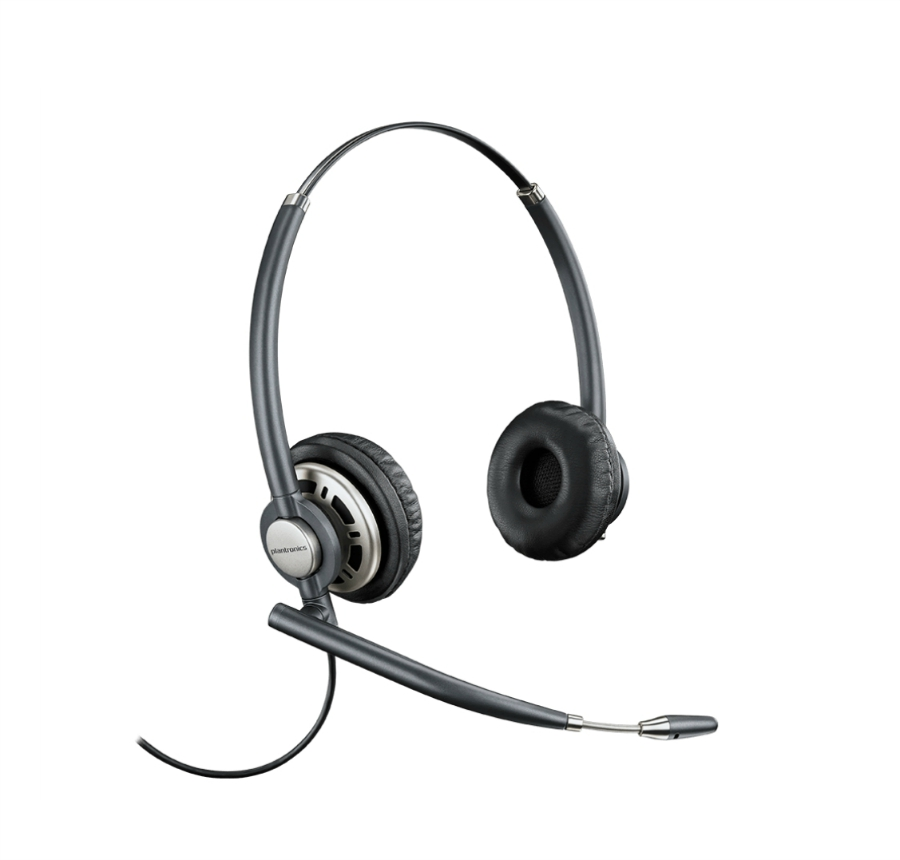 Plantronics Hw720 Wired Headset Seated