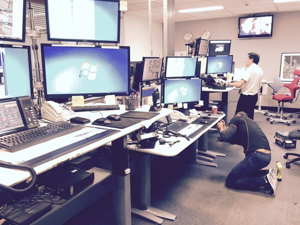 Qantas Electric Desk Install