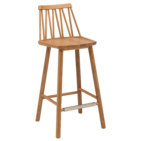 Zigzag Barstool Oiled Oak timber finish