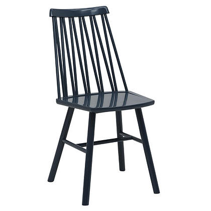 Zigzag chair blue stain timber finish