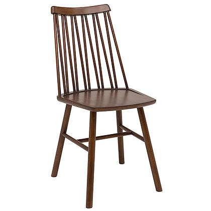 Zigzag chair espresso stain timber finish
