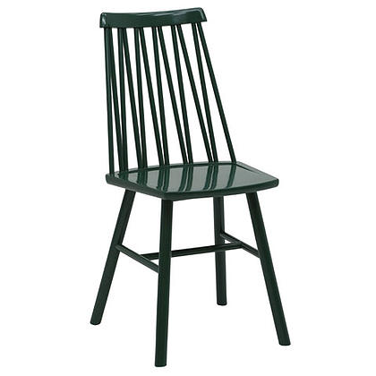 Zigzag chair green stain timber finish