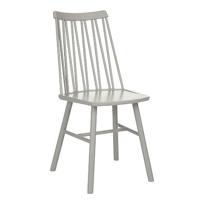 Zigzag chair light grey stain timber finish