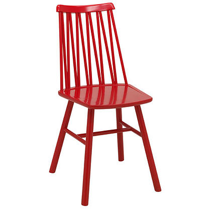 Zigzag chair red stain timber finish