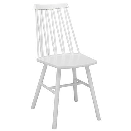 Zigzag chair white stain timber finish