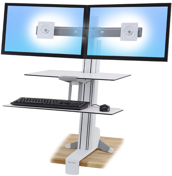 Ergotron Workfit S Dual White