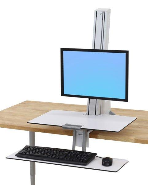 Ergotron Workfit S Single White Seated