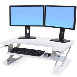 Ergotron Workfit TL Premium White Sit Stand Desktop Workstation
