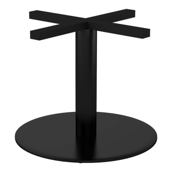 Silhouette Coffee Table Base Black Seated