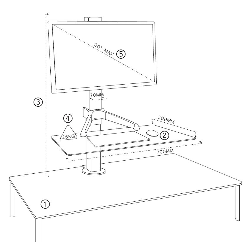 clover-electric-sit-stand-dimensions-single