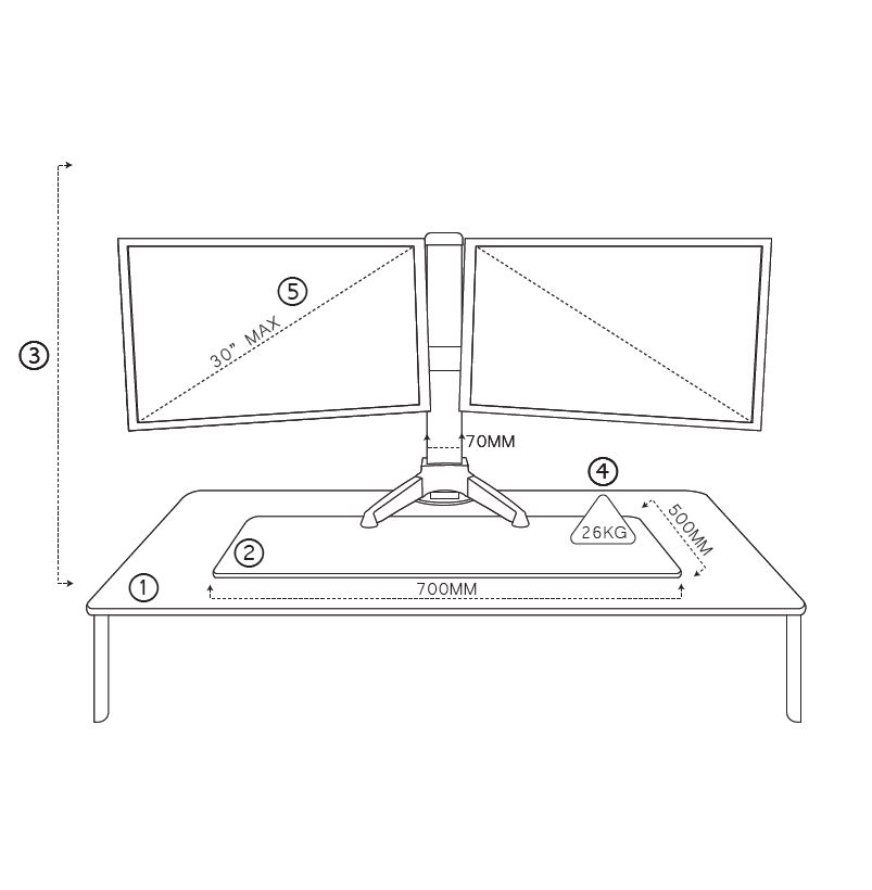 clover-electric-sit-stand-dual-dimensions