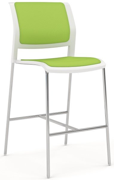 game-barstool-skid-chrome-lime-green