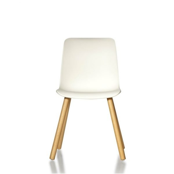Europa-Chair-Timber-Leg-White-Front