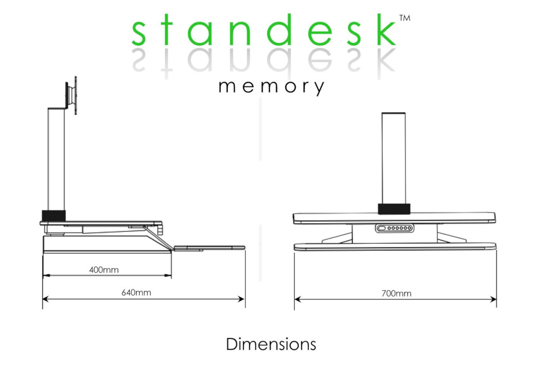 Standesk Dimensions