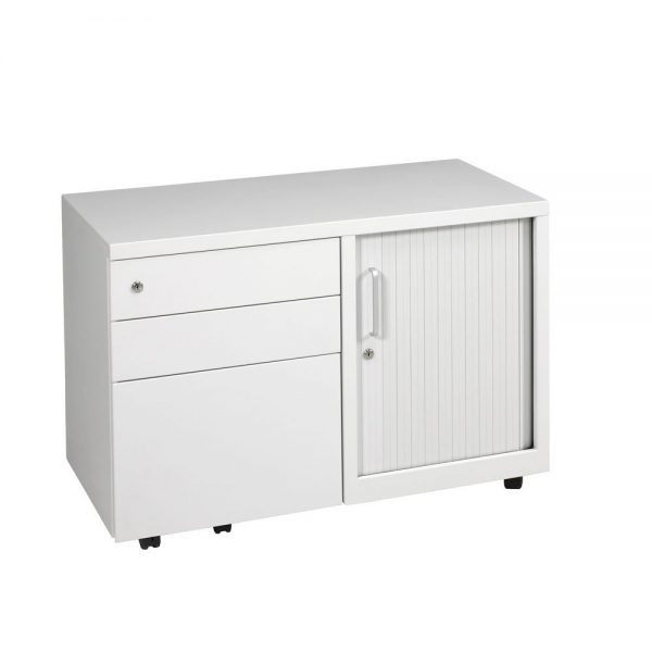 ULTICADD9045RHS-Ultimet-Storage-Caddy-Unit-with-Tambour-Right-Hand-Metal-Furniture-White