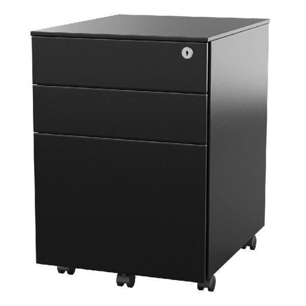 Ultimet-Mobile-Pedestal-storage-2-Box-1-File-Drawer-Black