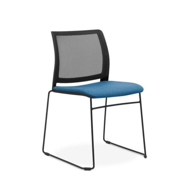 Oxygen-mesh-sled-chair-black-seatpad