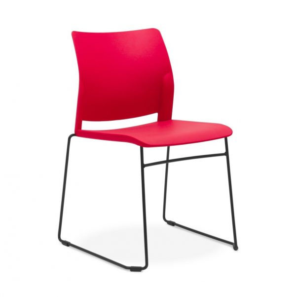 Oxygen-sled-chair-red