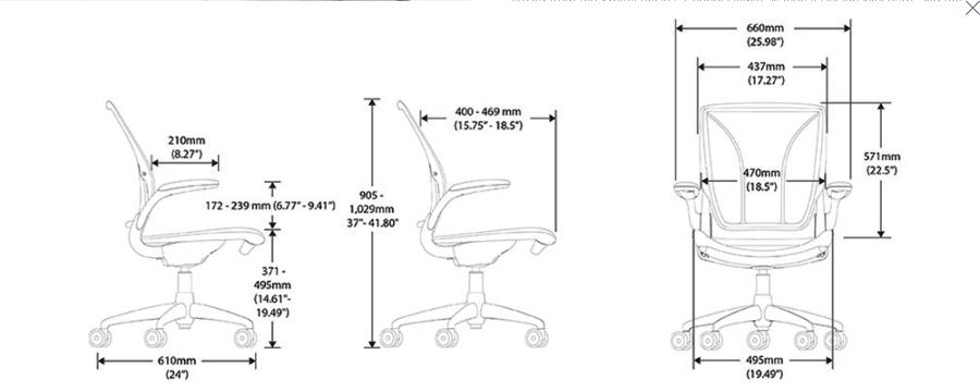Techspec - Humanscale Diffrient World Chair