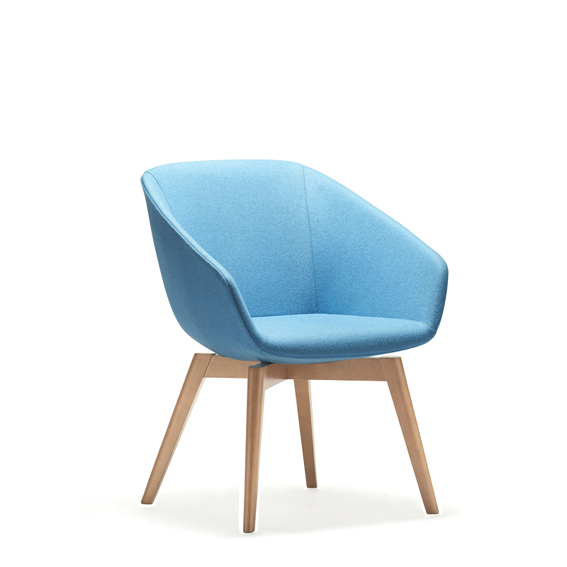 Delphi Timber Base Lounge Chair Seated