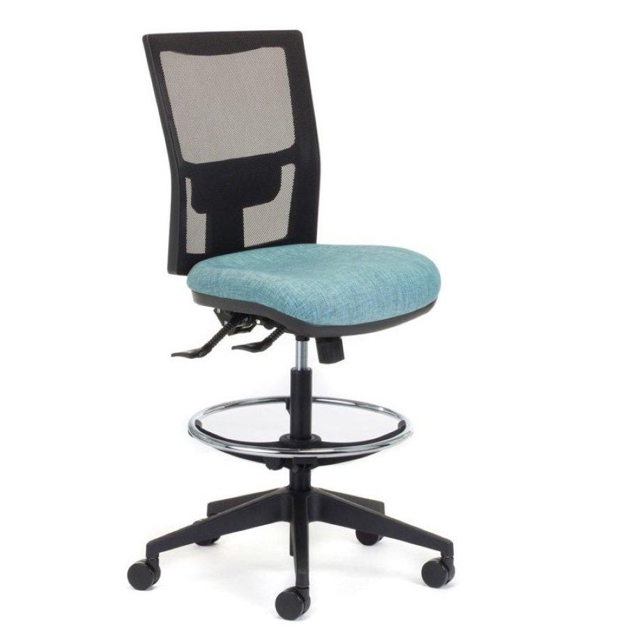 empact air mesh drafting chair seated