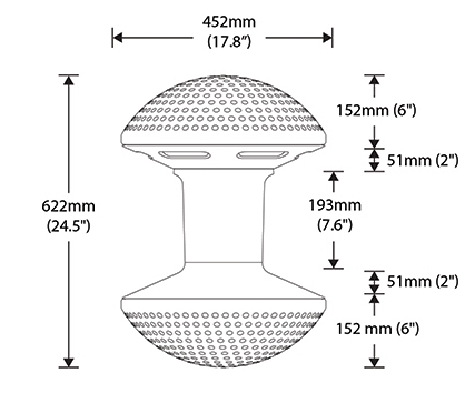 Ballo Stool Dimensions