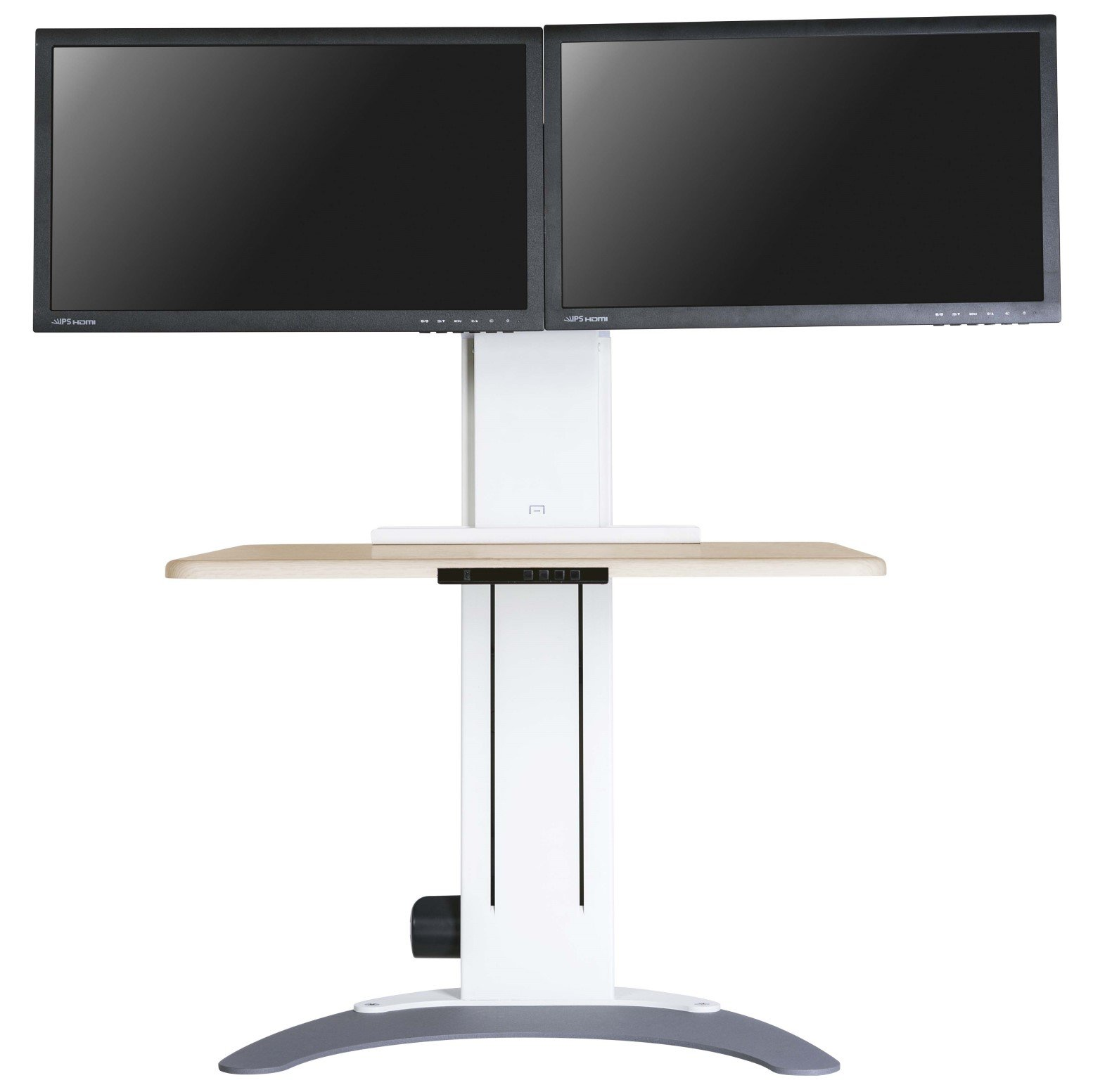 Altizen Pro Dual Monitor Electric Sit Stand Desk Seated