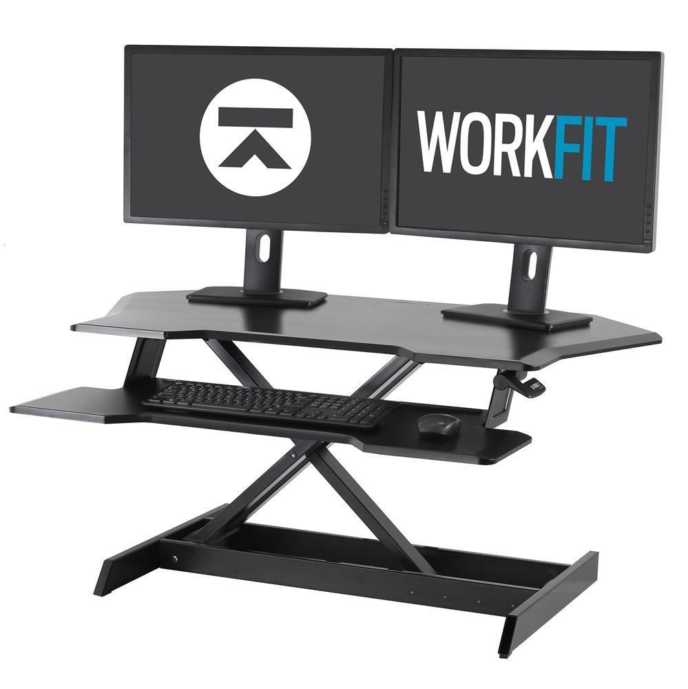 Ergotron Workfit Corner Sit Stand Desktop Workstation Seated