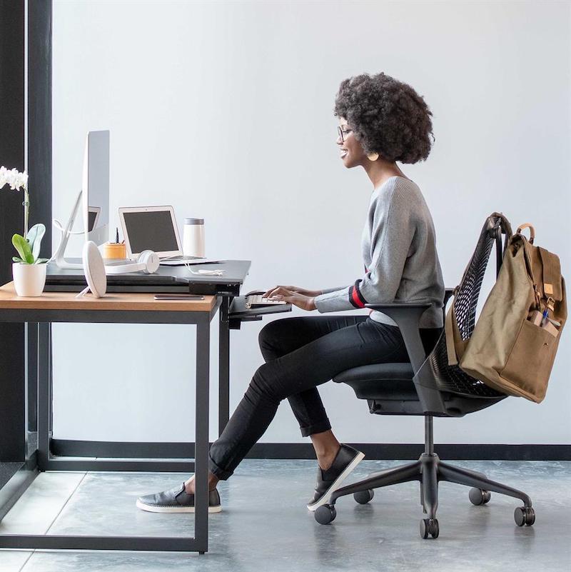 Ergotron Workfit Tx Standing Desk Converter Seated