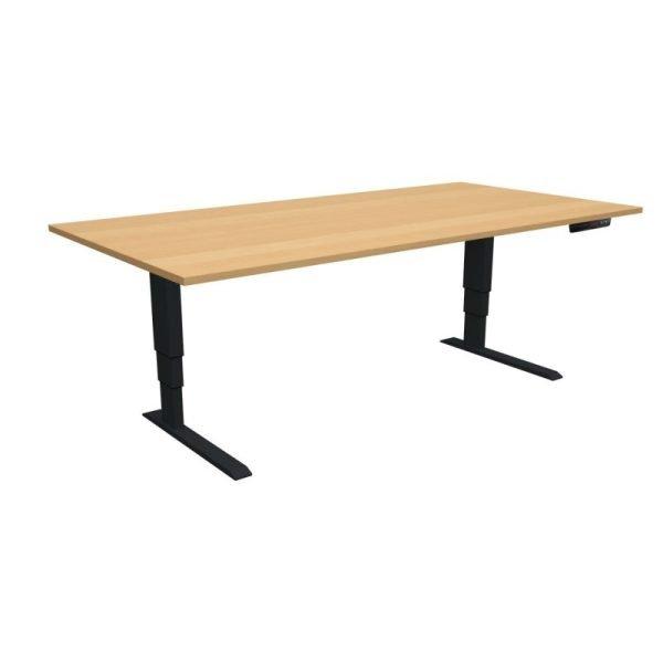 ELevar Desk Black Frame Oak Top
