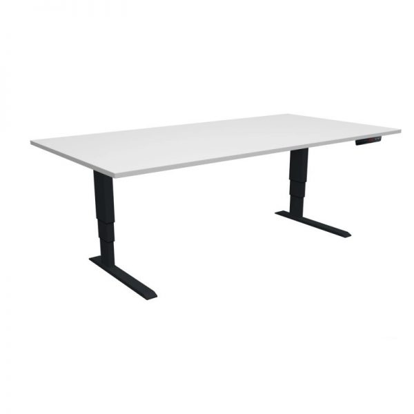ELevar Desk Black Frame White Top