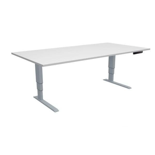 ELevar Desk Silver Frame White Top