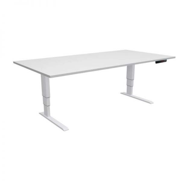 ELevar Desk White Frame White Top