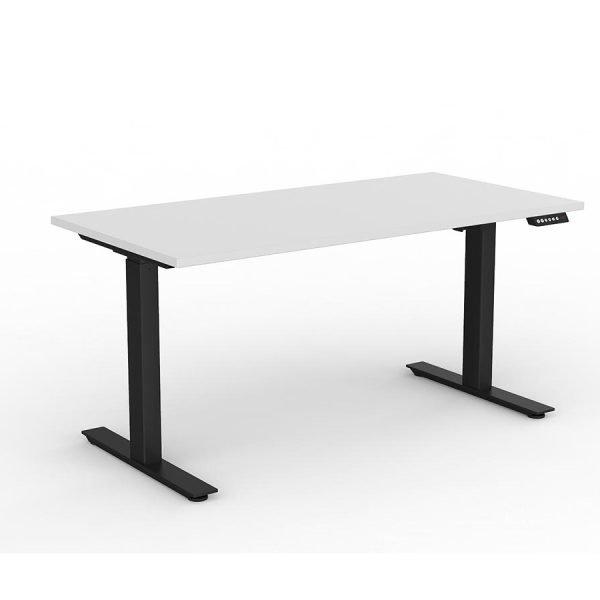 Agile_Electric_Height_Adjustable_Desk_Black_Frame_White_Worktop