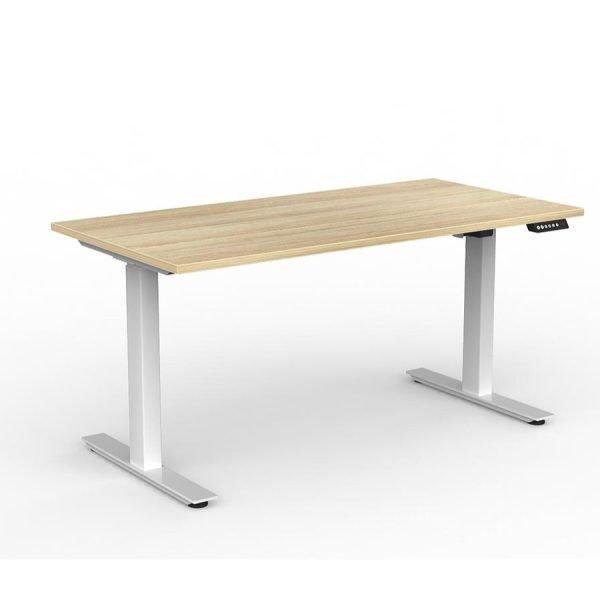 Agile_Electric_Height_Adjustable_Desk_White_Frame_Oak_Worktop