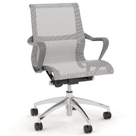 Scroll Meeting Chair Grey