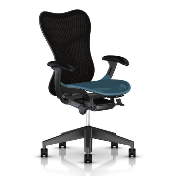 Herman Miller Mirra 2 Butterfly Chair Graphite Turquoise