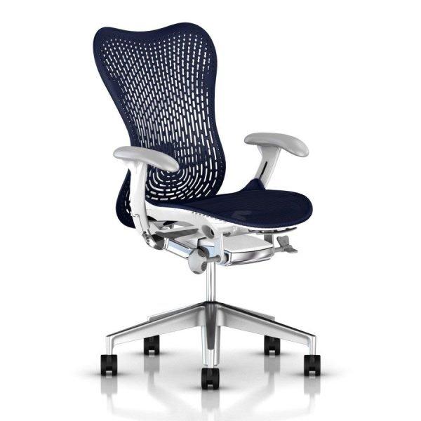 Herman Miller Mirra 2 Triflex Chair Turquoise Polished Base